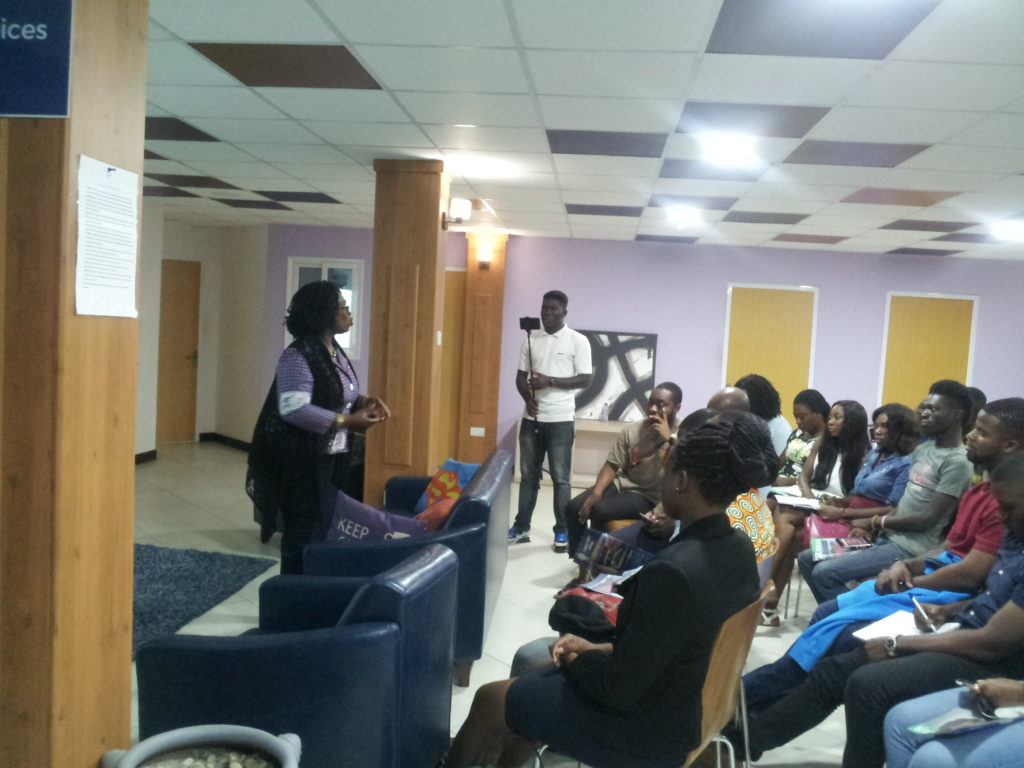 Mrs. Hagan giving a talk at Workshed Africa